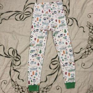 Winter print pajama bottoms